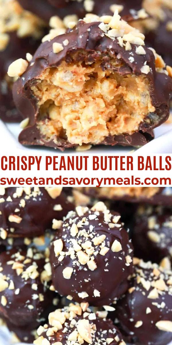 easy crispy peanut butter balls pin