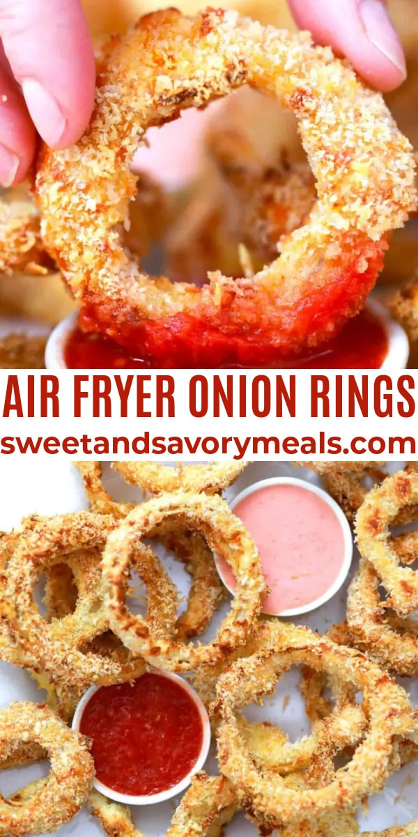 easy air fryer onion rings pin