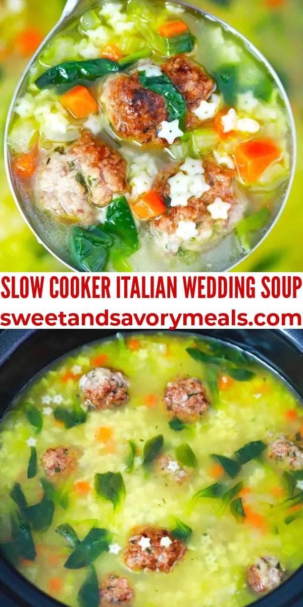easy slow cooker italian wedding soup pin