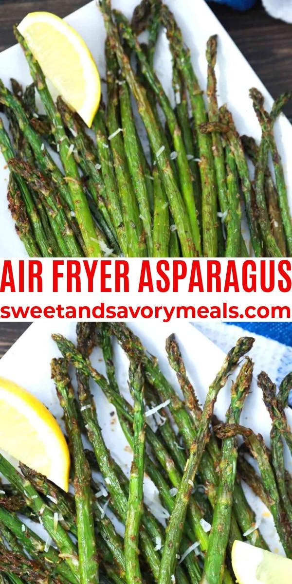 easy air fryer asparagus pin