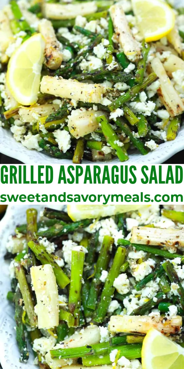 easy grilled asparagus salad pin