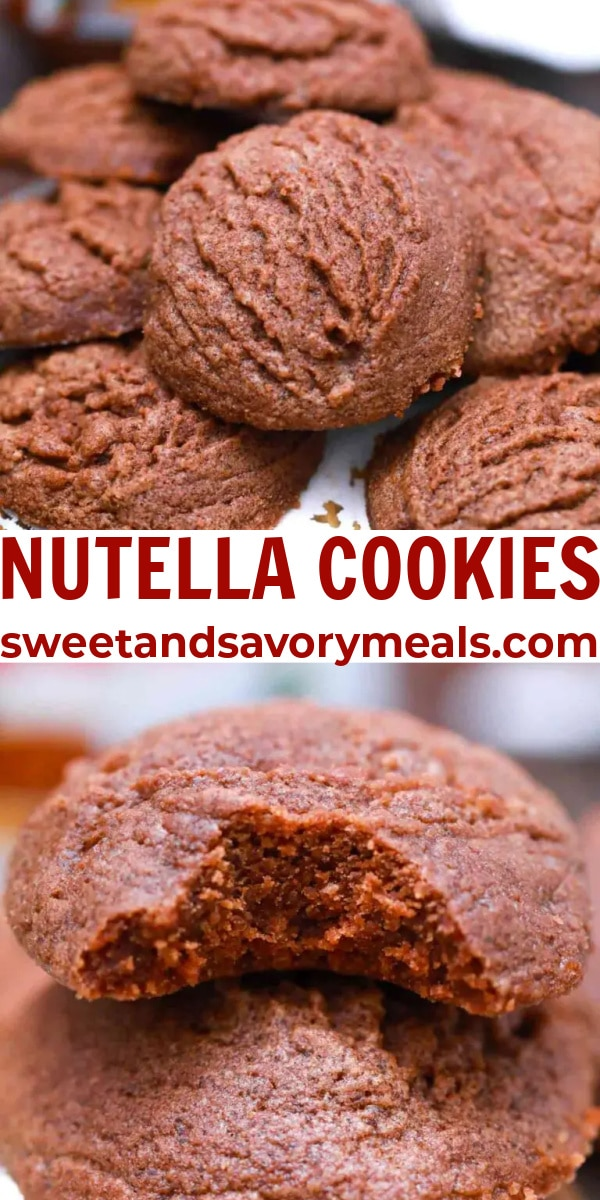 easy Nutella Cookies pin