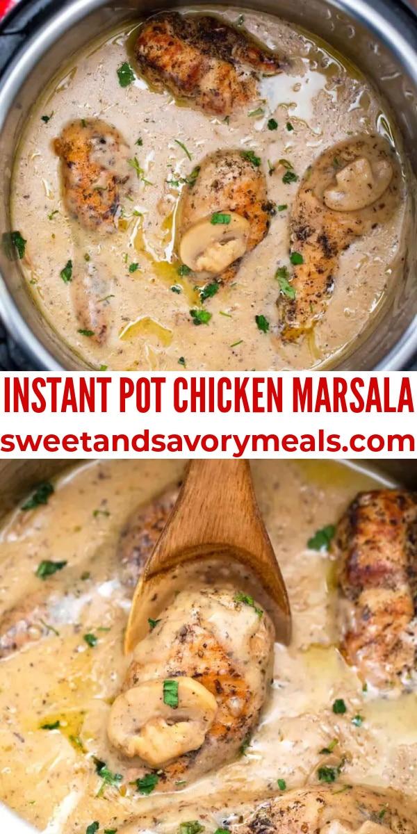 easy instant pot chicken marsala pin
