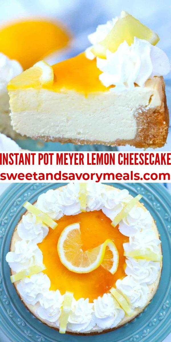 easy instant pot meyer lemon cheesecake pin