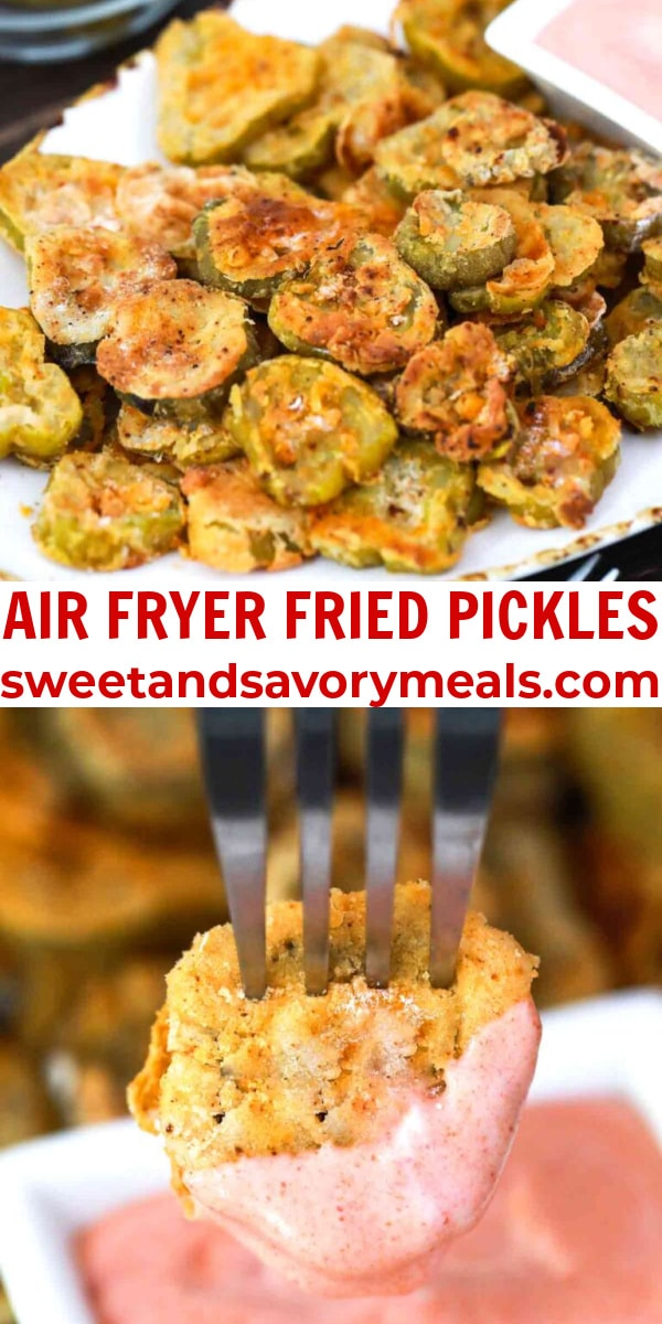 easy air fryer fried pickles pin