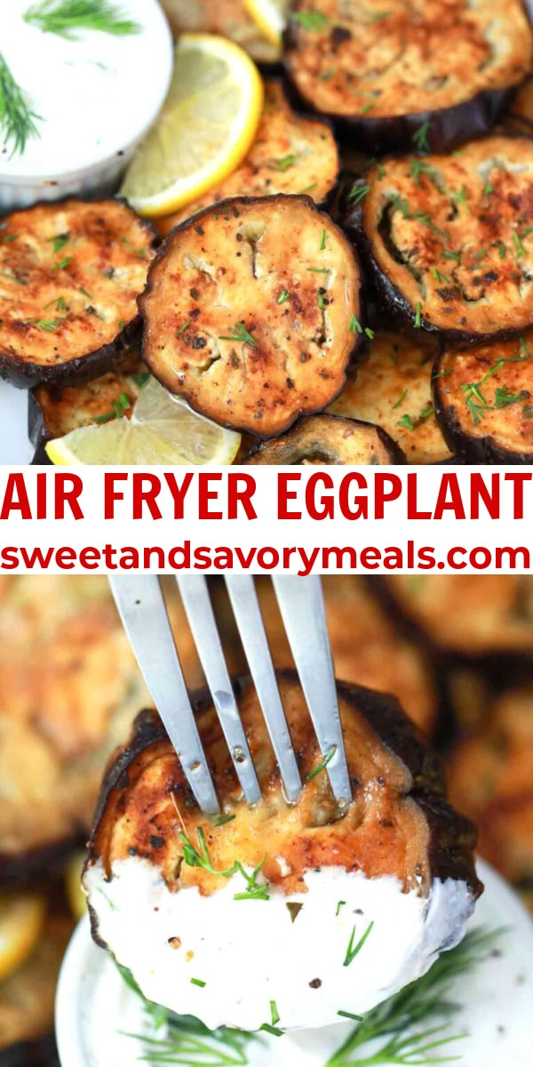 easy air fryer eggplant pin