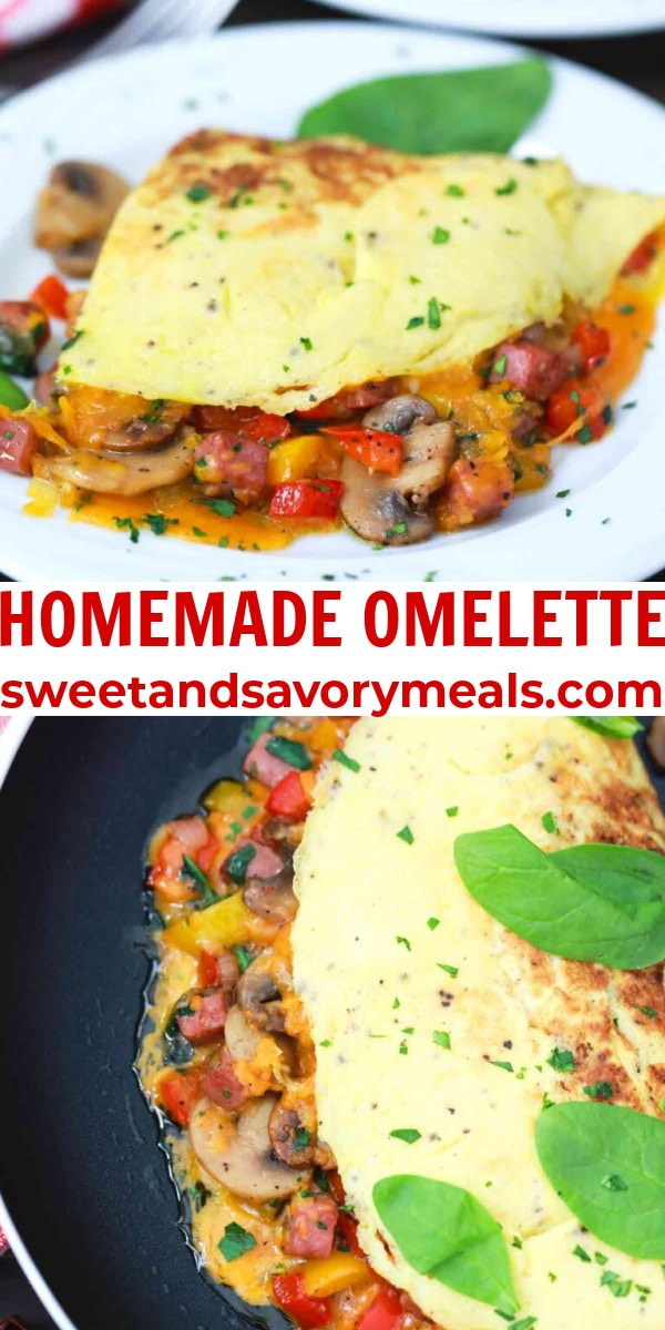 easy homemade omelette pin
