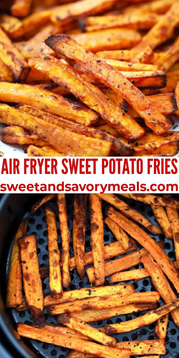 easy air fryer sweet potato fries pin