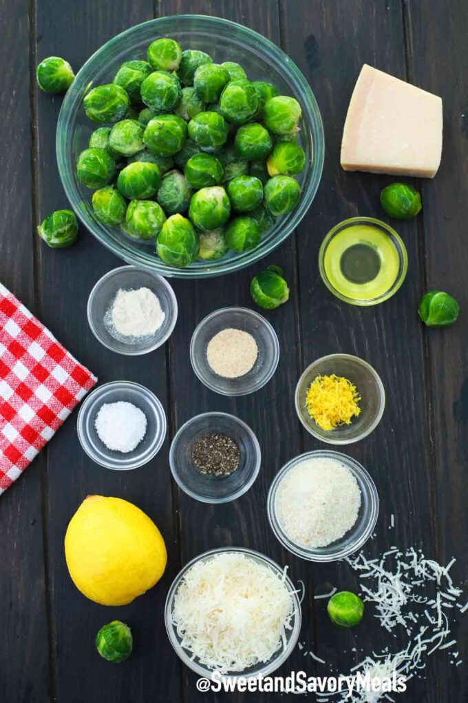 air fryer brussel sprouts ingredients