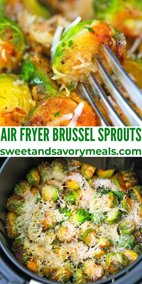 easy air fryer brussel sprouts pin