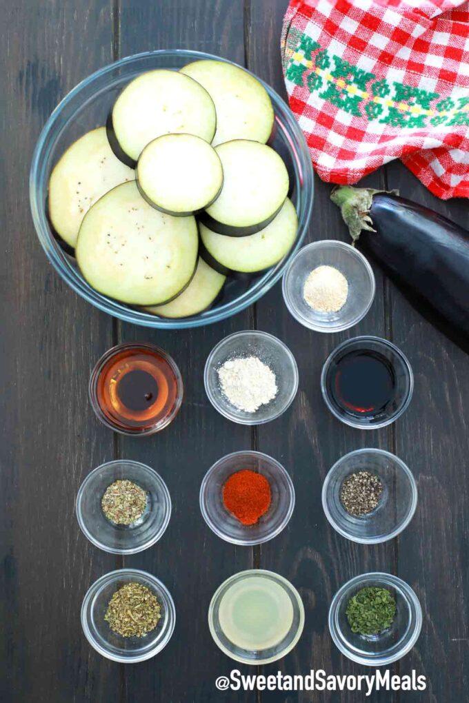 air fryer eggplant ingredients