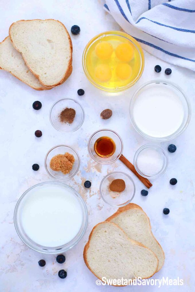 air fryer French toast ingredients