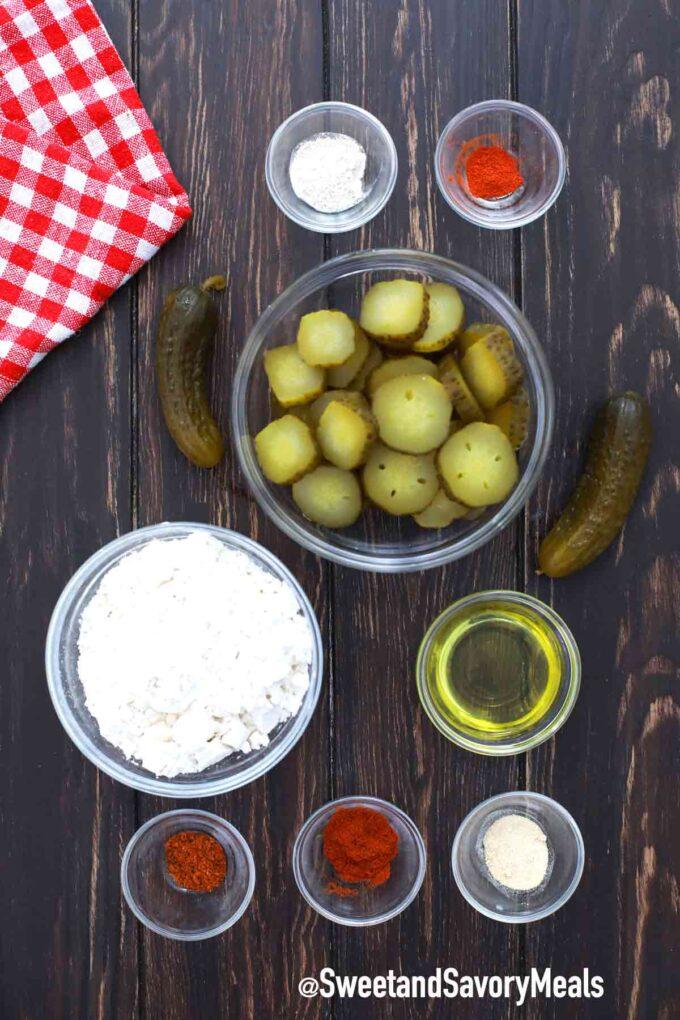 air fryer fried pickles ingredients