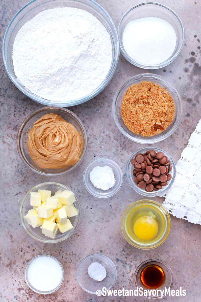 air fryer peanut butter cookies ingredients