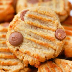 air fryer peanut butter cookies with chocolate chips