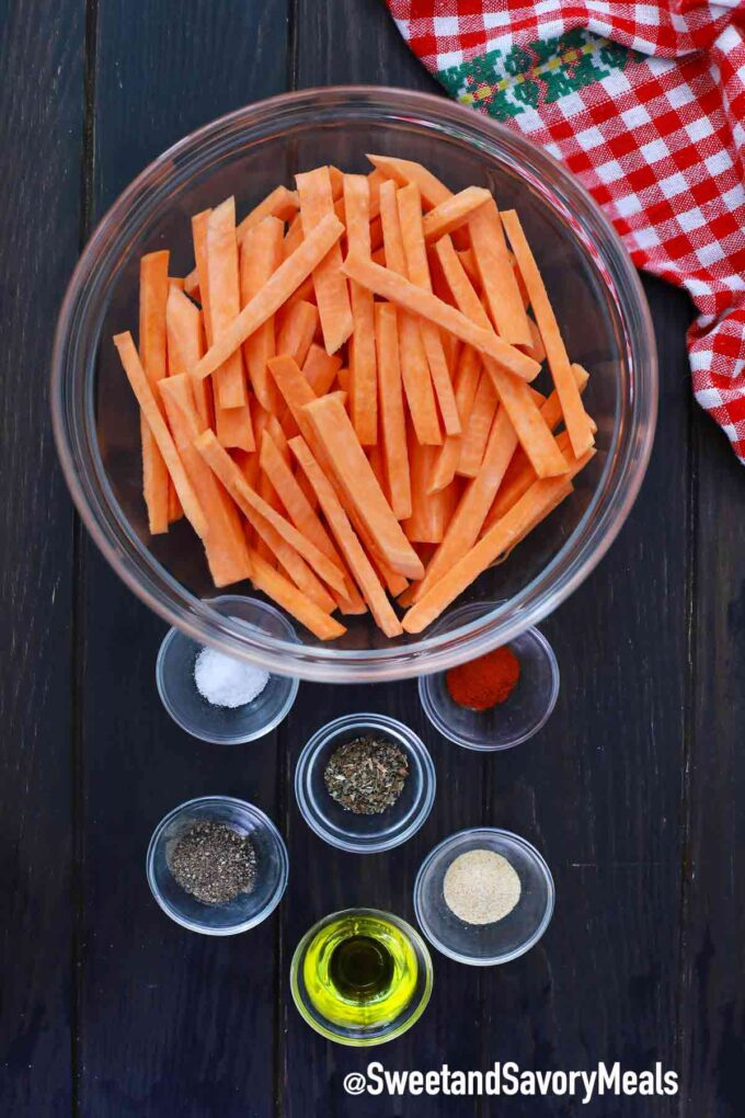 air fryer sweet potato fries ingredients