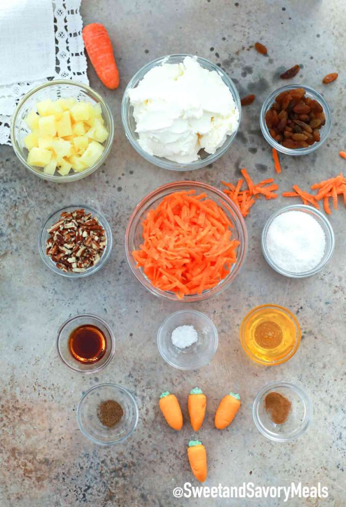 carrot cake cheese ball ingredients