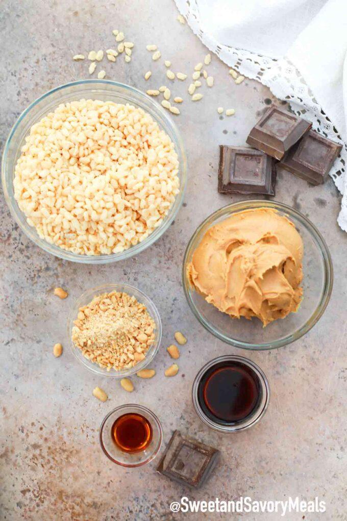 crispy peanut butter balls ingredients