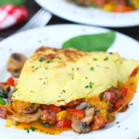 homemade omelette on a plate