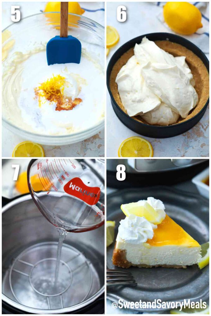 steps how to make instant pot Meyer lemon cheesecake
