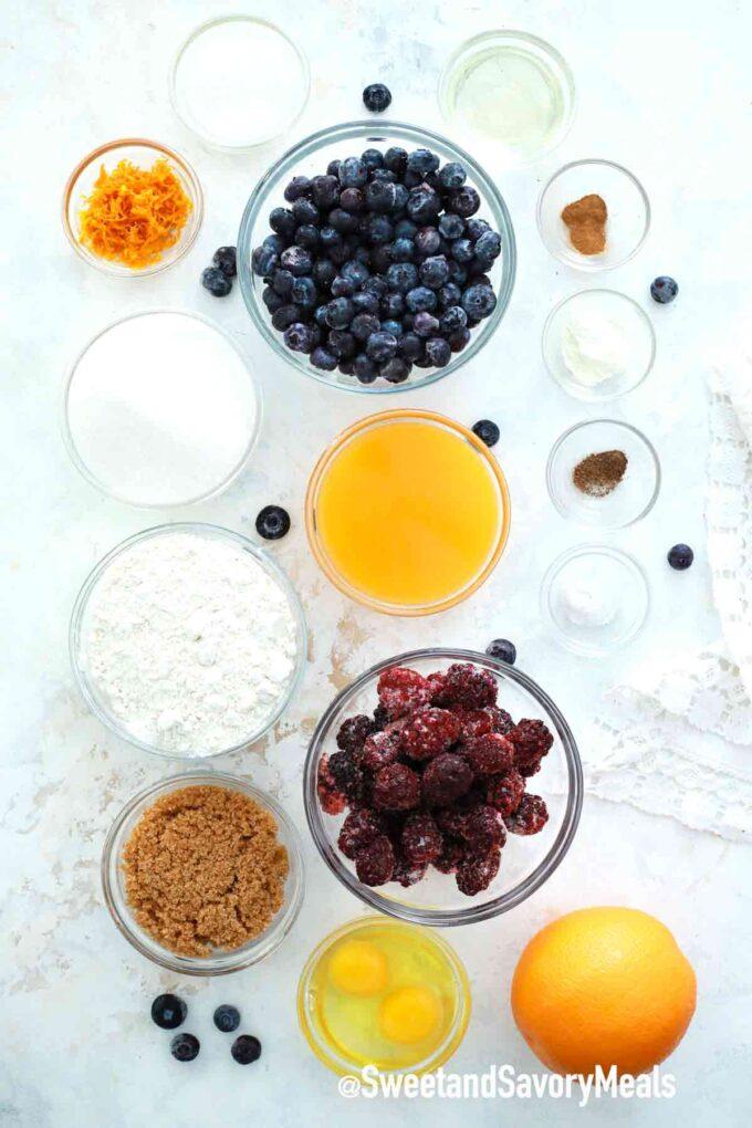 instant pot berry cobbler ingredients