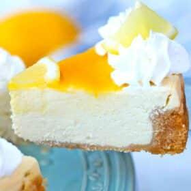 instant pot Meyer lemon cheesecake slice