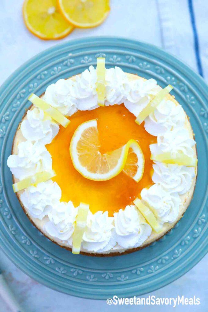 instant pot Meyer lemon cheesecake