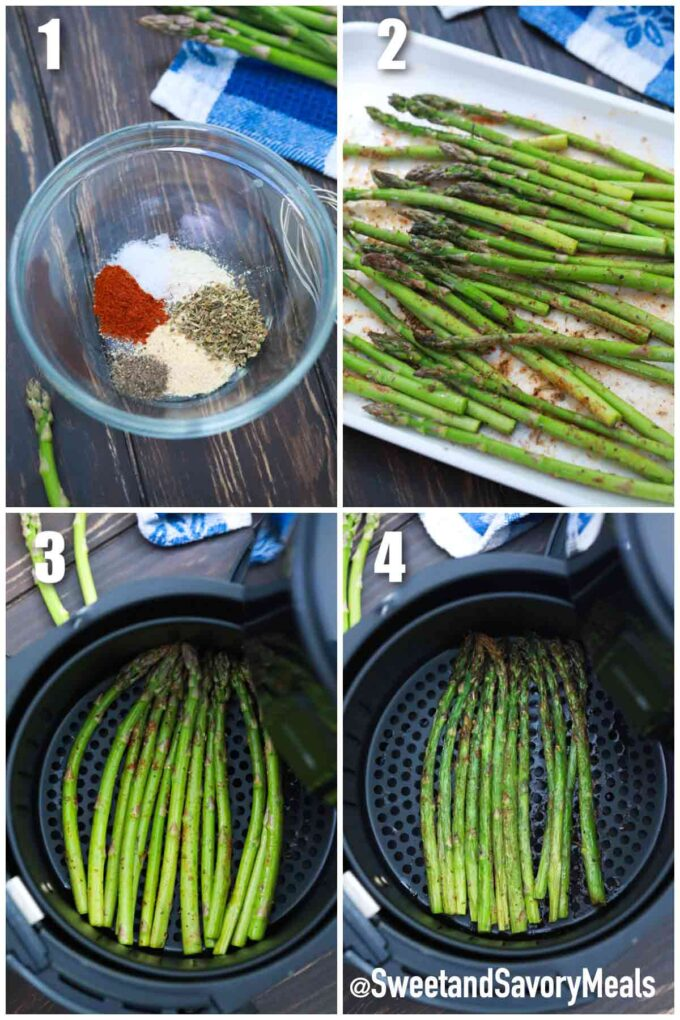 steps how to make air fryer asparagus