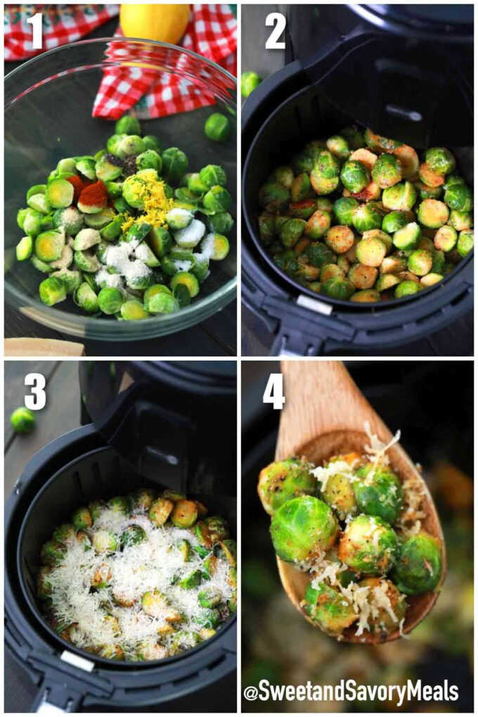 steps how to make air fryer brussel sprouts
