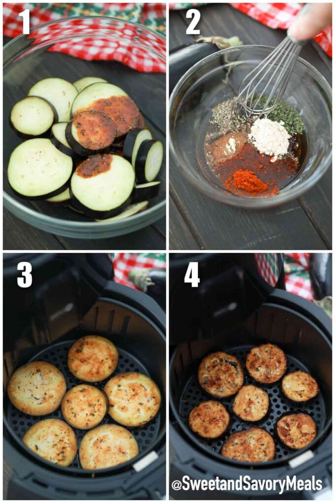steps how to make air fryer eggplant