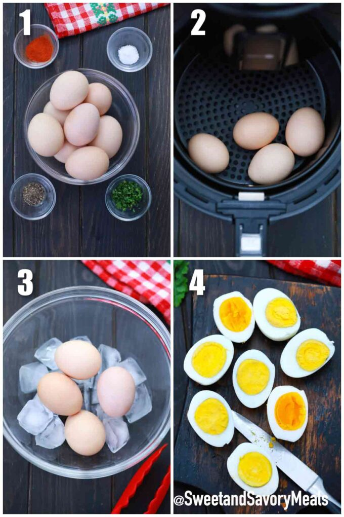 steps how to make air fryer eggs
