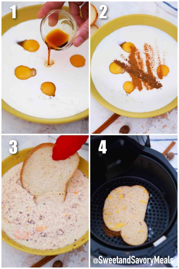 steps how to make air fryer French toast