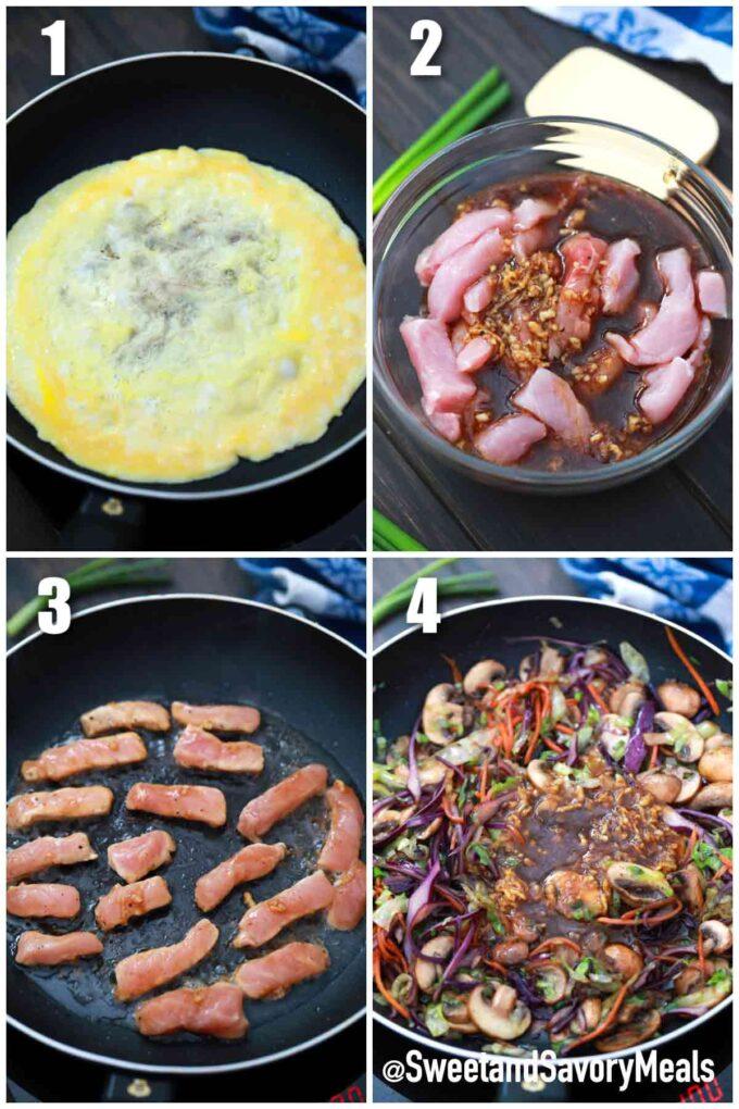 steeps how to make Moo Shu pork