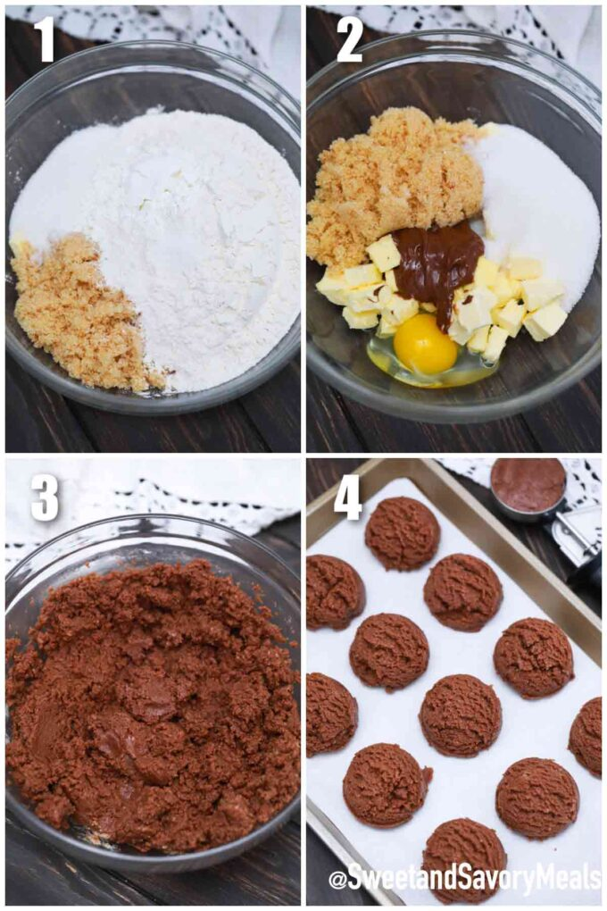 steps how to make Nutella cookies