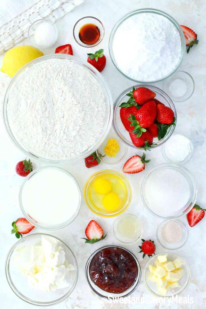 strawberry rolls ingredients
