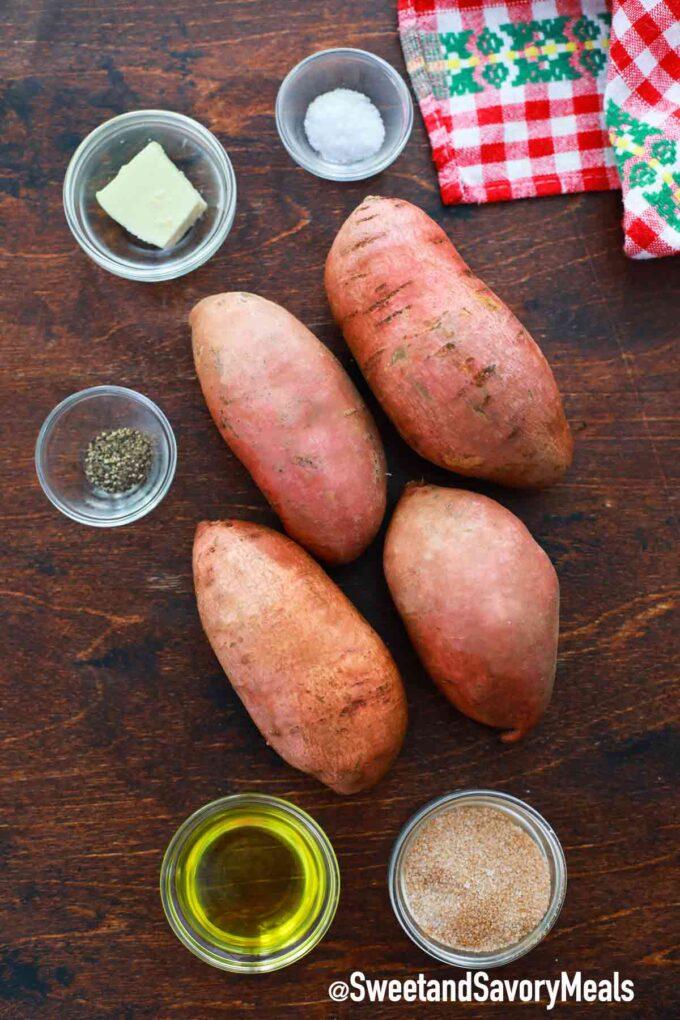 air fryer sweet potatoes ingredients