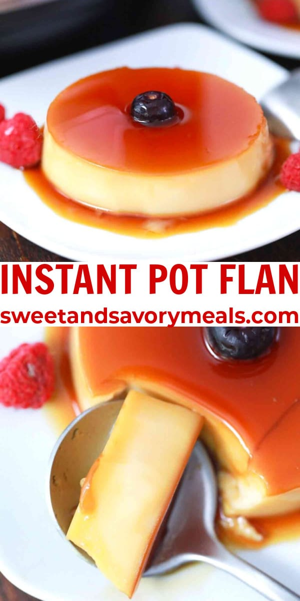 easy instant pot flan pin