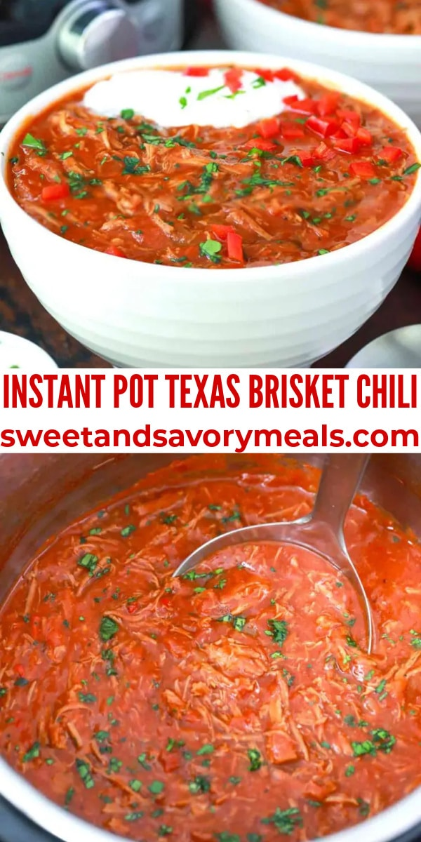 easy instant pot texas brisket chili pin