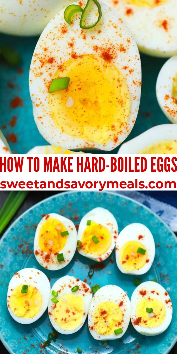 how to make easy hard boiled eggs pin