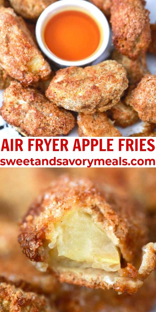 easy air fryer apple fries pin