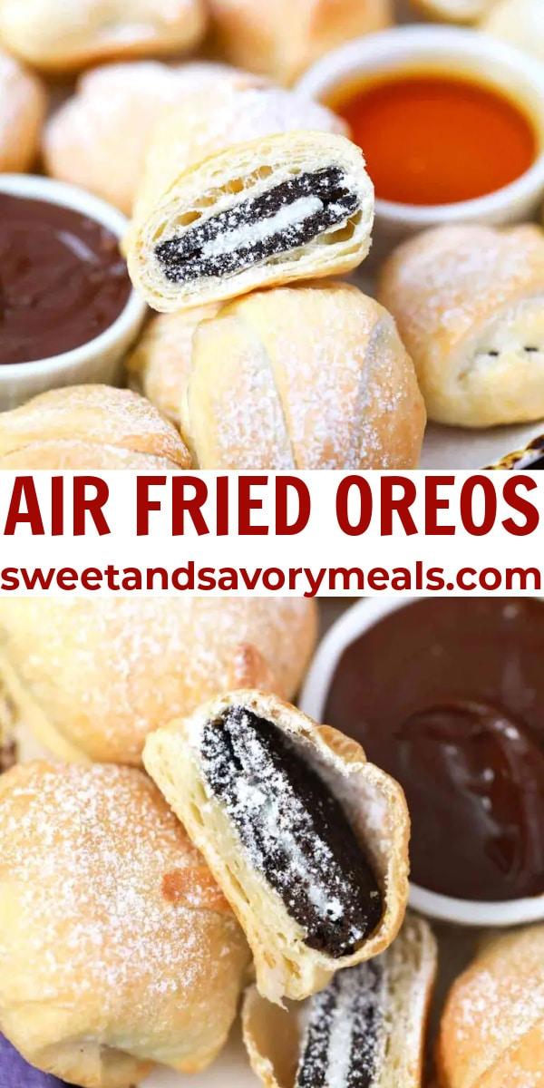 easy air fried oreos pin