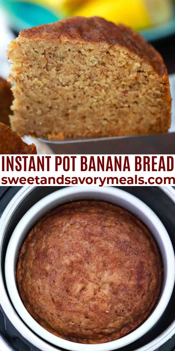 easy instant pot banana bread pin