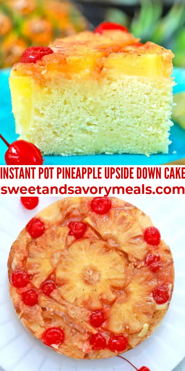 easy instant pot pineapple upside down cake pin