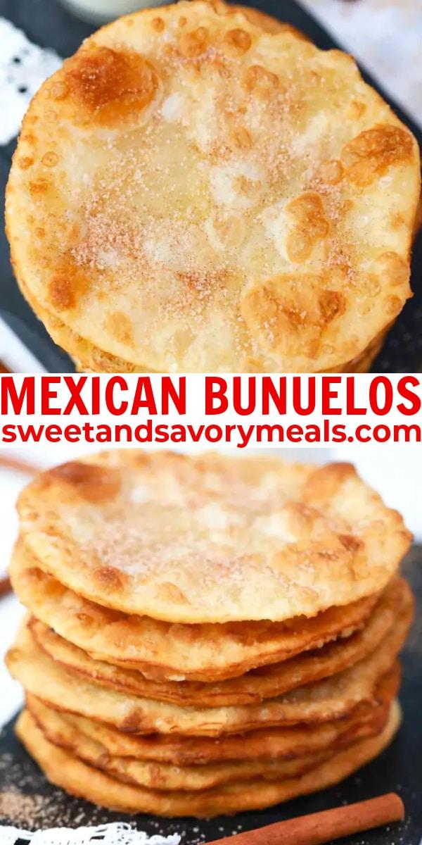 easy Mexican bunuelos pin