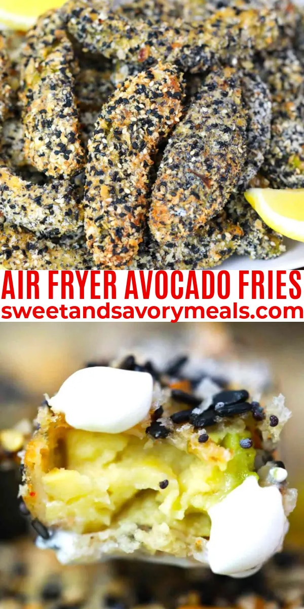 easy air fryer avocado fries pin