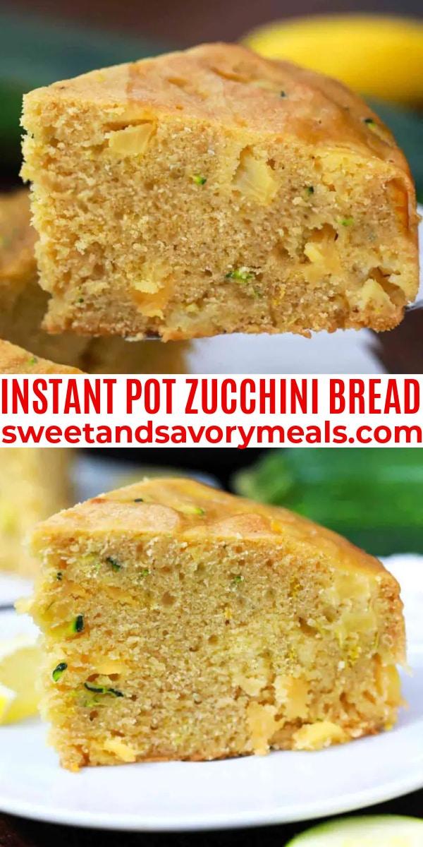easy instant pot zucchini bread pin