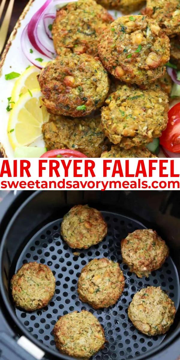 easy air fryer falafel pin