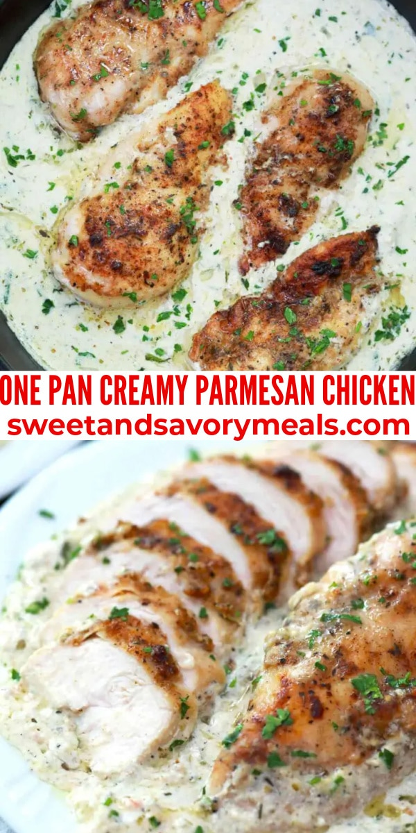 easy one pan creamy parmesan chicken pin