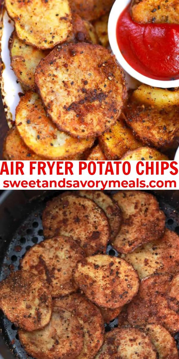 easy air fryer potato chips pin
