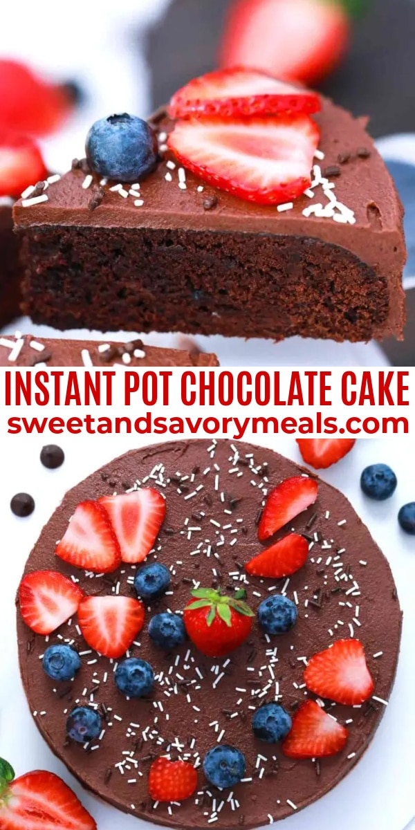 easy instant pot chocolate cake pin